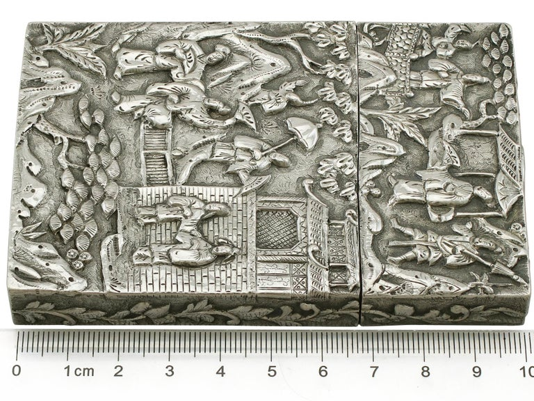 Antique Chinese Export Silver Card Case For Sale 8