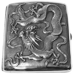 Antique Chinese Export Silver Case, TC for Tuck Chang, circa 1900