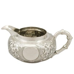Antique Chinese Export Silver Cream Jug