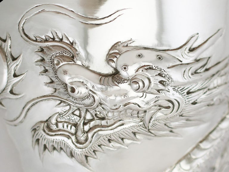 Antique Chinese Export Silver Goblet, circa 1900 For Sale 3