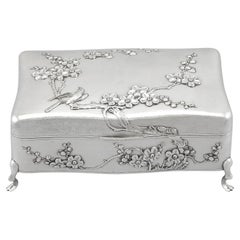 Antique Chinese Export Silver Jewellery Box, Circa 1895