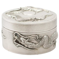 Antique Chinese Export Sterling Silver Box