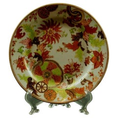 Antique Chinese Famille Rose Tobacco Leaf Porcelain Pseudo Tobacco Bread Plate