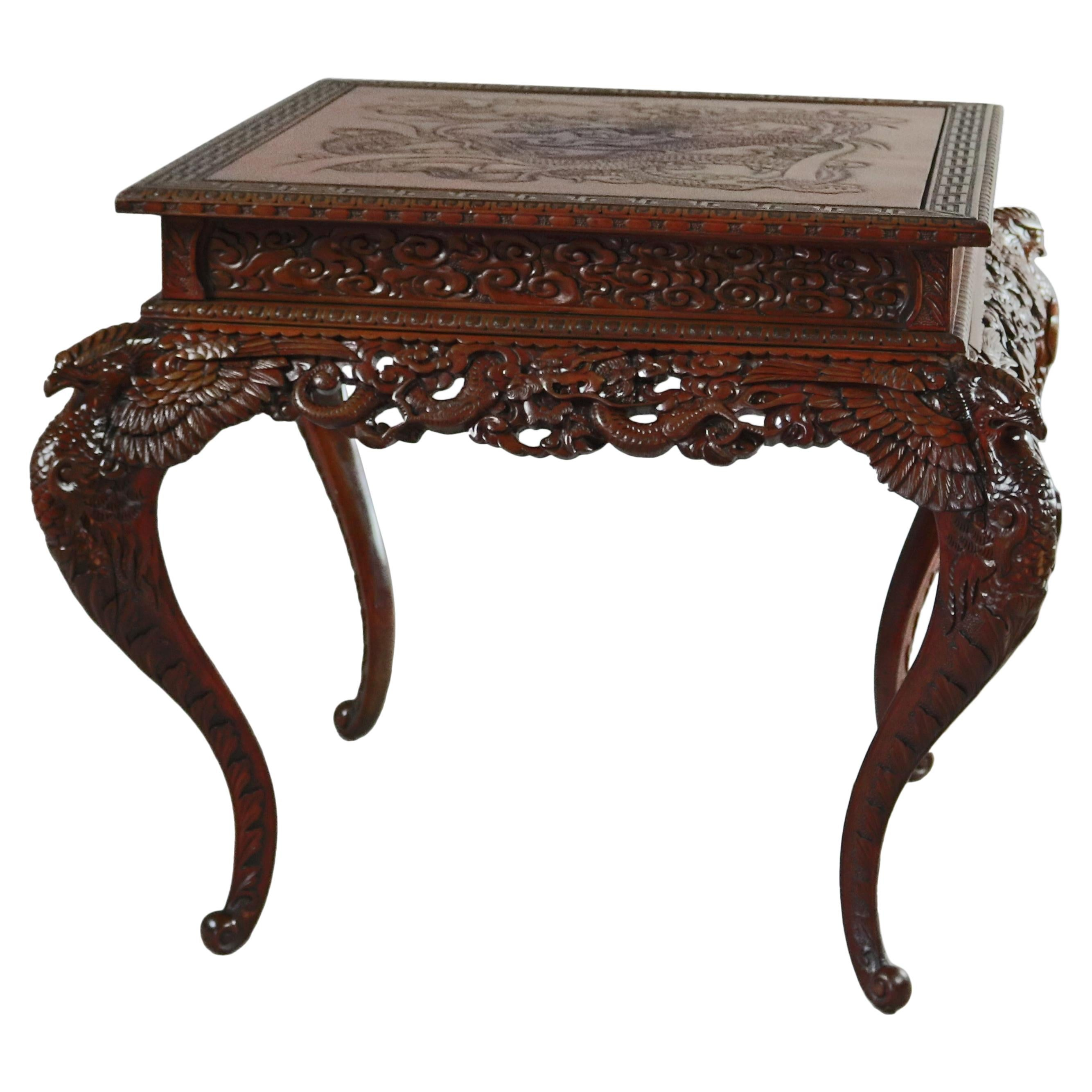 One Of A Kind Do You Want To Buy Some Chinese Native Produce? Bright Antique Carved Mahogany Hall Table