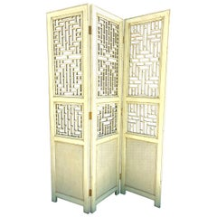 Antique Chinese Fretwork Screen For Sale