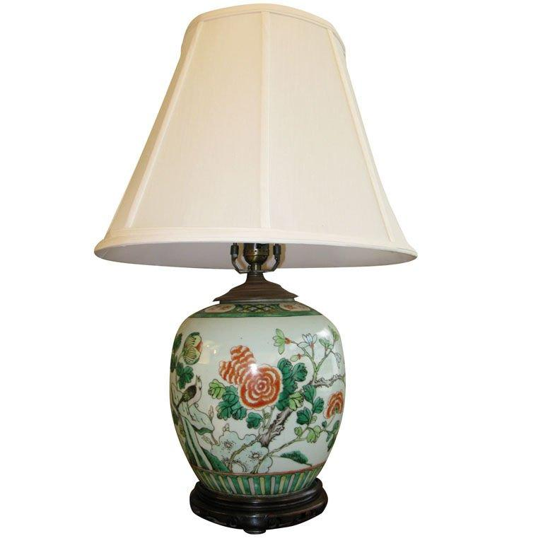 20th Century Antique Chinese Ginger Jar, Mounted as Lamp For Sale