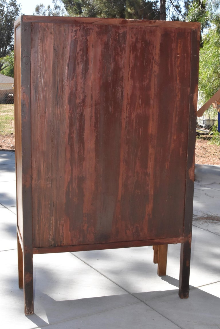Antique Chinese Glass Curio Cabinet, Ming Style For Sale 14