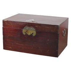 Antique Chinese Hardwood Trunk / Chest, 20th Century