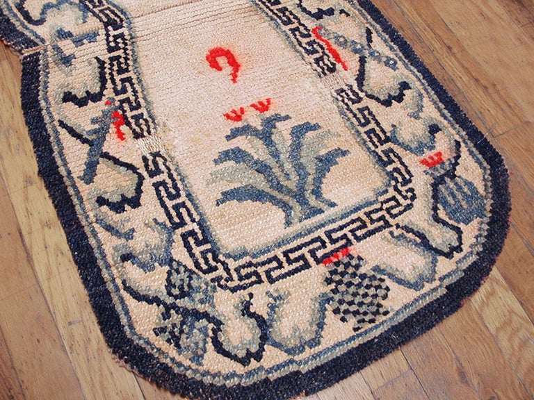 Hand-Knotted Antique Chinese Horse Cover For Sale