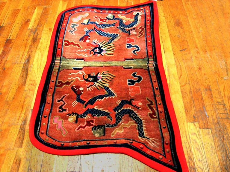 Antique Chinese horse cover, size: 2'6