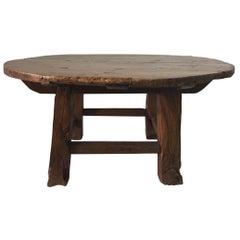 Antique Chinese Huanghuali Hardwood Round Table