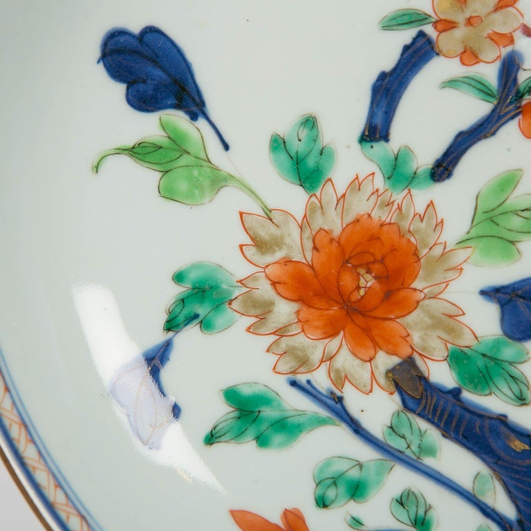 Qing Antique Chinese Imari Pattern Dish For Sale