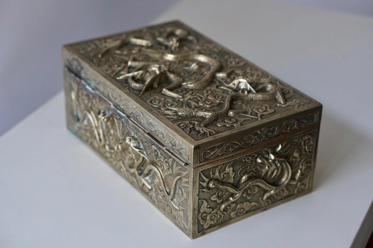 Plated Chinese Jewelry Box For Sale