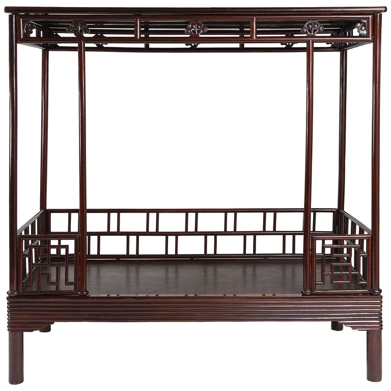Qing period <i>ju-mu</i> canopy bed, 19th century, offered by Altfield Gallery