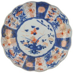 Antique Chinese Kangxi Period Imari Dinner Plate Qing 18th Century Porcelain