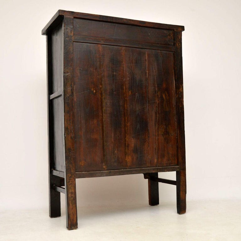 Antique Chinese Lacquered Wedding Cabinet For Sale 9
