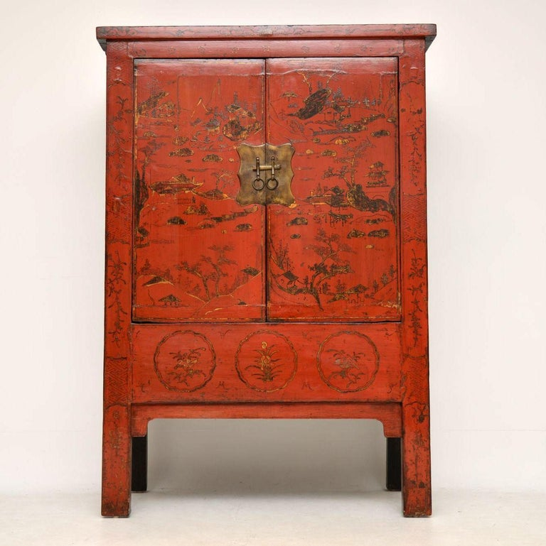 Antique Chinese Lacquered Wedding Cabinet For Sale At 1stdibs