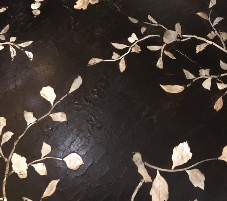 Antique Chinese Laquer and Mother of Pearl Grand Center Table For Sale 15