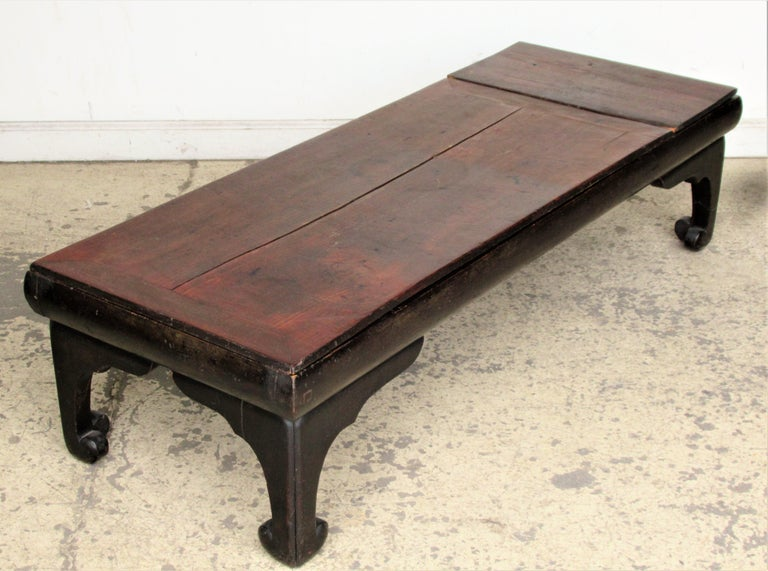 Carved Antique Chinese Low Table For Sale
