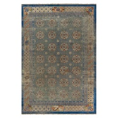 Antique Chinese Metal and Silk Thread Rug