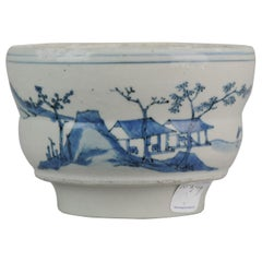 Antique Chinese Ming Early 17th Century Porcelain China Water Pot Landscape