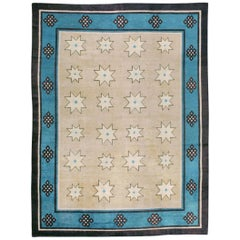 Antique Chinese-Mongolian Deco Carpet