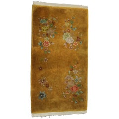 Antique Chinese Nichols Style Oriental Wool Area Rug, circa 1920