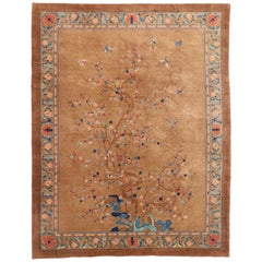 Antique Chinese Peking Pictorial Rug with Romantic Chinoiserie Style