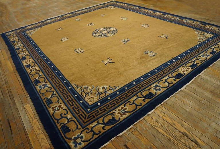 Hand-Knotted Antique Chinese Peking Rug For Sale