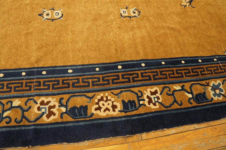 Early 20th Century Antique Chinese Peking Rug For Sale