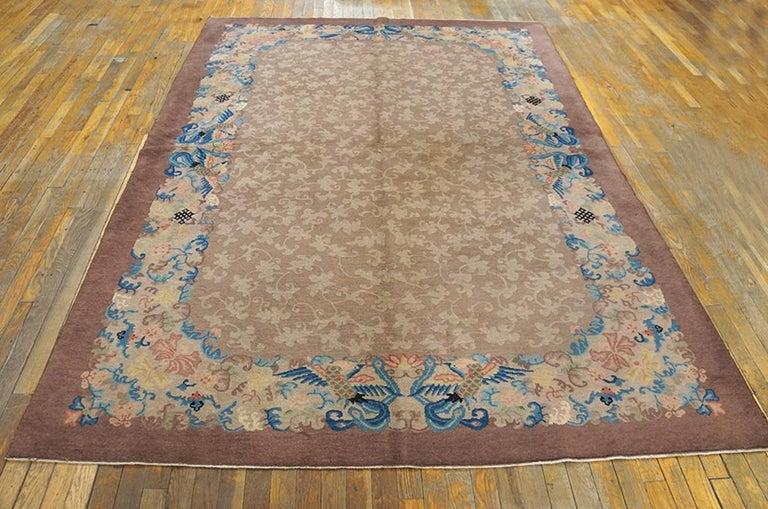 Antique Chinese Peking rug, size: 6'2