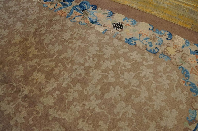 Wool Antique Chinese Peking Rug For Sale