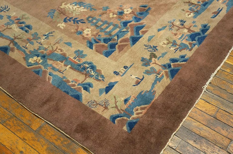Hand-Knotted Antique Chinese, Peking Rug For Sale