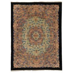 Antique Chinese Peking Rug with Romantic French Country Style