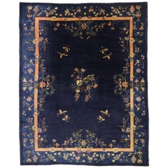 Antique Chinese Peking Rug with Art Deco Style Inspired by Walter Nichols