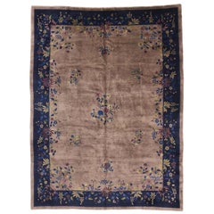 Antique Chinese Peking Rug with Qing Dynasty and Art Deco Style