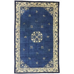 Antique Chinese Peking Rug with Romantic Chinoiserie Style
