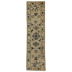 Antique Chinese Peking Runner with Chinoiserie Chic Style, Hallway Runner