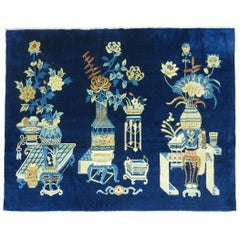 Antique Chinese Pictographic Rug