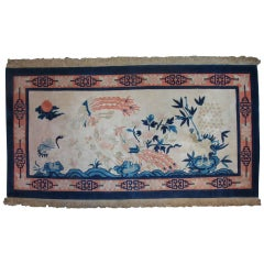 Antique Chinese Pictorial Rug, First Quarter of the 20th Century