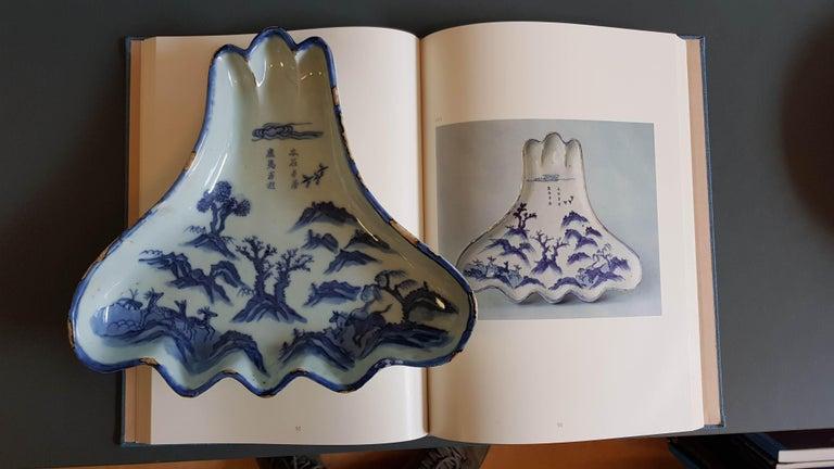 Ming Antique Chinese Porcelain Kosometsuke dish Mount Fuji Horses Deer Mountain For Sale
