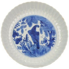 Antique Chinese Porcelain 17th Century Porcelain Ming Wanli Kraak Dish Eagle