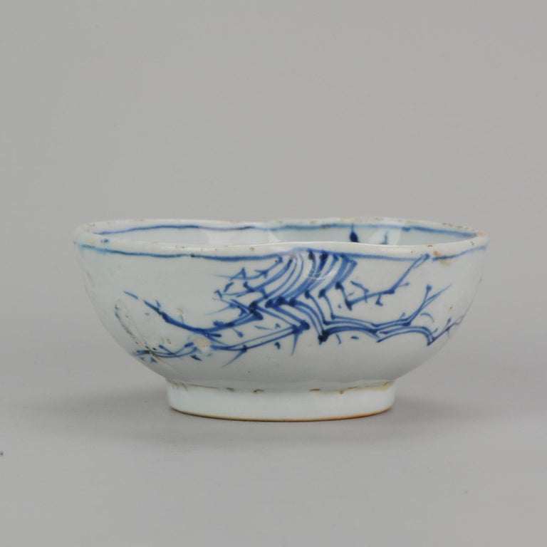 Antique Chinese Porcelain 17th Century Kosometsuke Bowl with Pommegranate For Sale 6