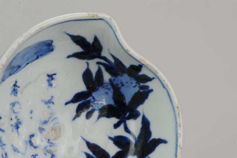 Antique Chinese Porcelain 17th Century Kosometsuke Bowl with Pommegranate For Sale 2