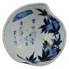 Antique Chinese Porcelain 17th Century Kosometsuke Bowl with Pommegranate