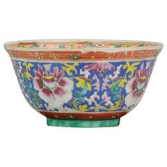 Antique Chinese porcelain Bowl SE Asian Thai / Malay Market Bencharong