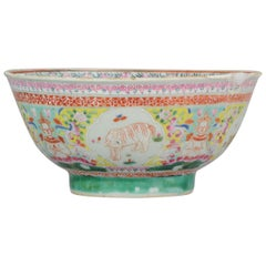 Antique Chinese Porcelain Bowl 18th C. SE Asian Thai / Malay Market Bencharong