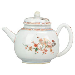 Antique Chinese Porcelain Kangxi Famille Verte Rare Decorated Teapot