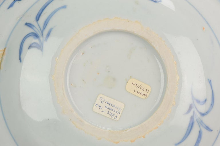 Antique Chinese Porcelain Plate 17th Century Ming Dynasty Wanli Period For Sale 6