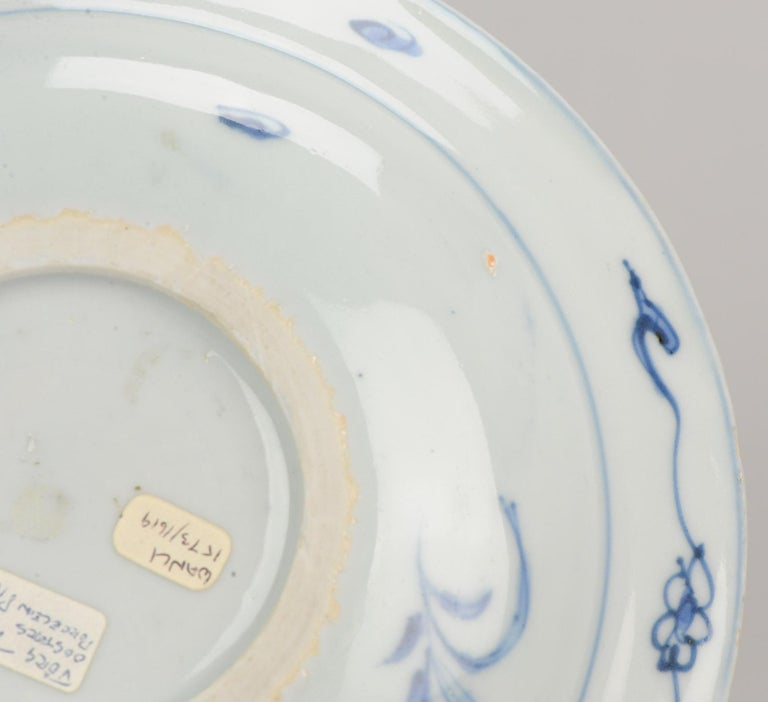 Antique Chinese Porcelain Plate 17th Century Ming Dynasty Wanli Period For Sale 9